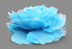 Large Flower Bomb Clip (Teal)