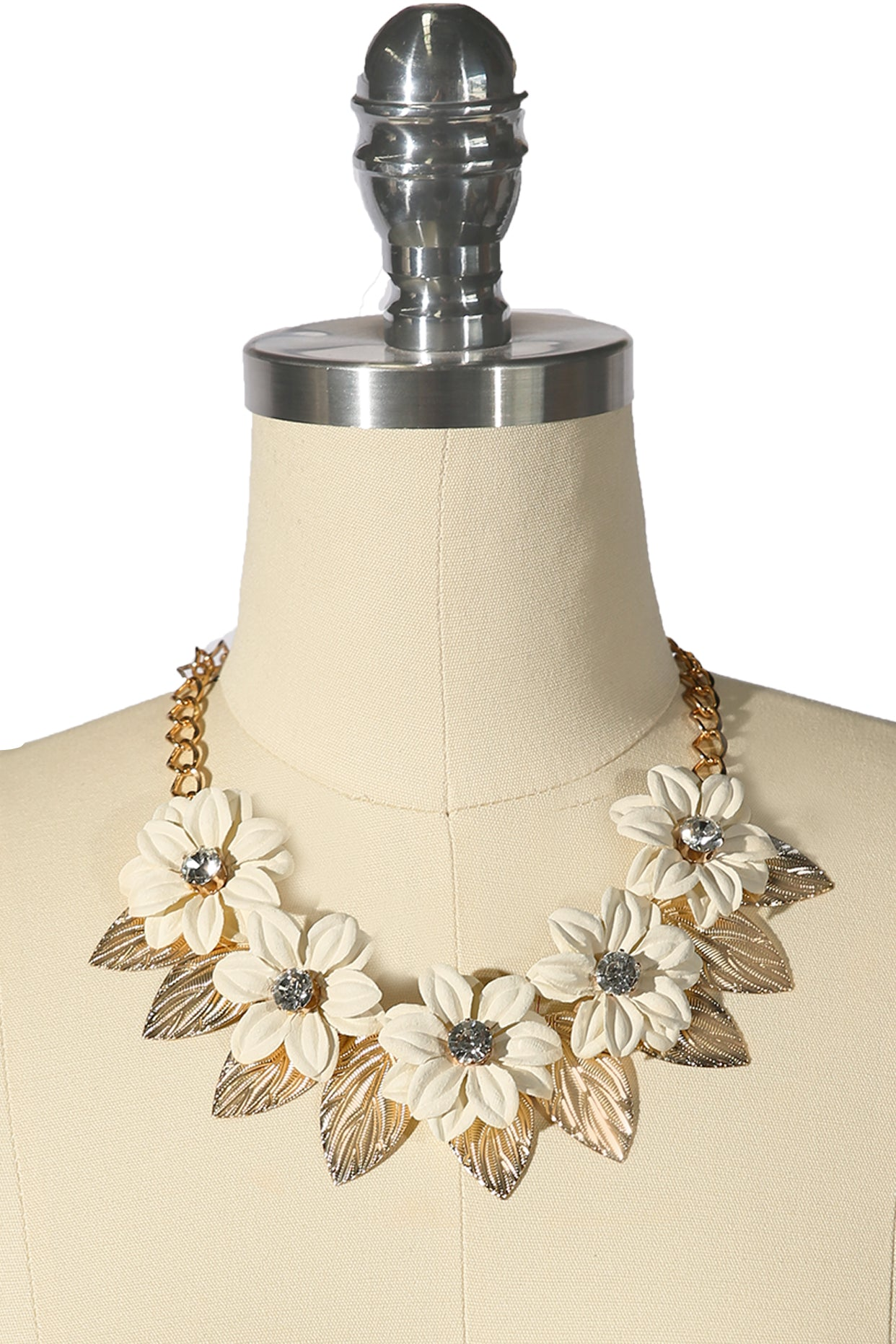 Paper Lily Necklace Ivory