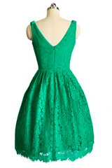 D'Amour Emerald Lace Dress