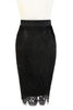 D'Amour Lace Pencil Skirt