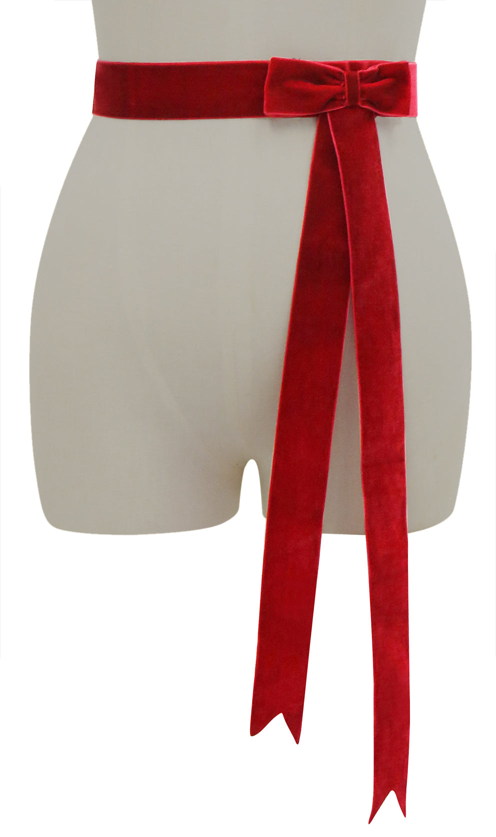 D'Amour Velvet Bow Belt (Red)