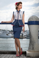 Abandon Ship Peplum Skirt