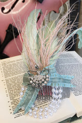 Music Box Feather Ballerina Hair Comb