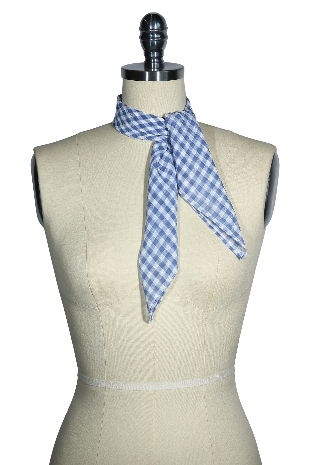 D'Amour Check Scarf (Blue)