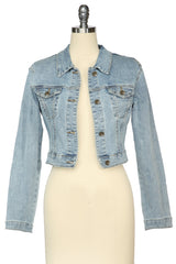 The Lucky Country Crop Jacket (Denim)
