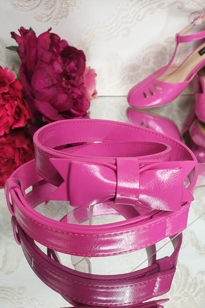 Charm School Belt (Fuchsia)