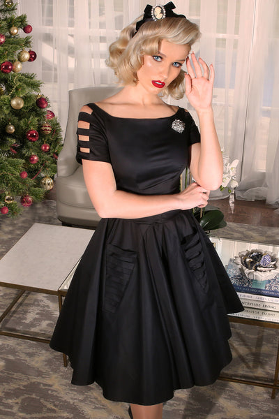 Christmas 1963 DeHavilland Dress (Black)