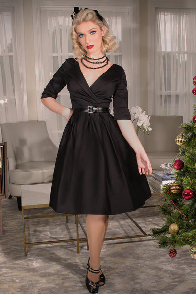 Christmas 1963 Collar Dress (Black)