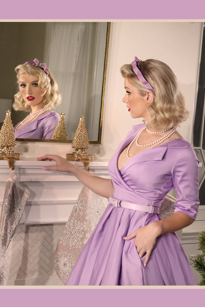 Christmas 1963 Collar Dress (Lilac)