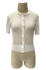 D'Amour Clara Bow Cardigan (White)