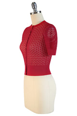 D'Amour Clara Bow Cardigan (Red)