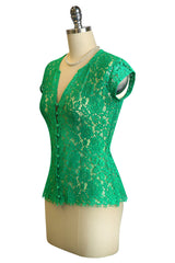 D'Amour Emerald Lace Blouse