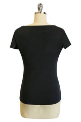 D'Amour Tie Jersey Top (Black)