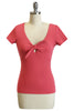 D'Amour Tie Jersey Top (Red)