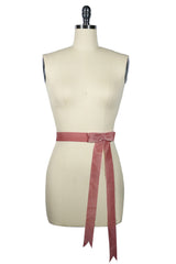D'Amour Velvet Bow Belt (Dusty Pink)