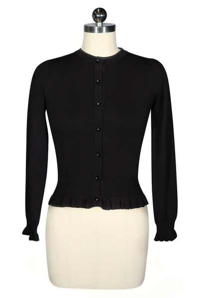 D'Amour Long Sleeve Cardigan (Black)
