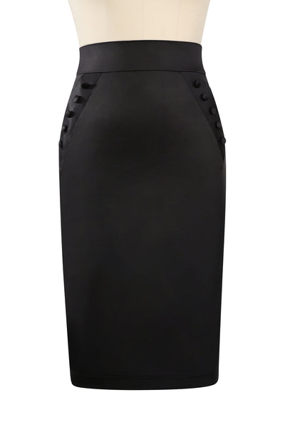 Eternity Wiggle Bustle Skirt (Black)