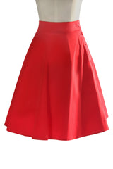 Follies Button Swing Skirt (Red)