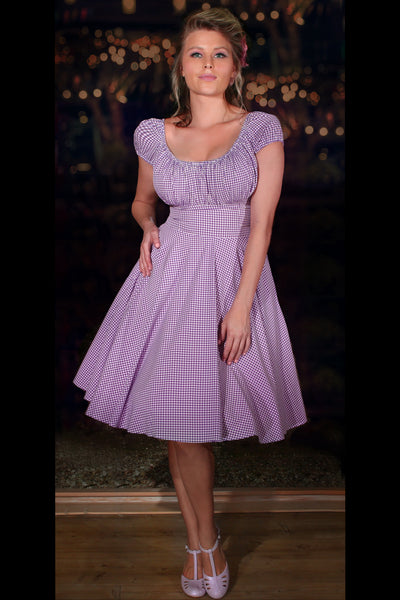 D'Amour Gingham Dress (Orchid)