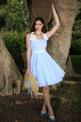 In The Meadow Check Collar Dress