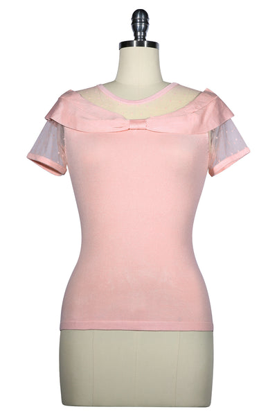 D'Amour Off Shoulder Top (Pink)