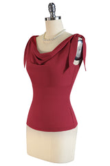 La Femme De Paris Cowl Top (Red)