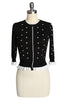 D'Amour Spot Cardigan (Black)