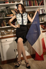 La Parisienne Bustle Skirt (Black)