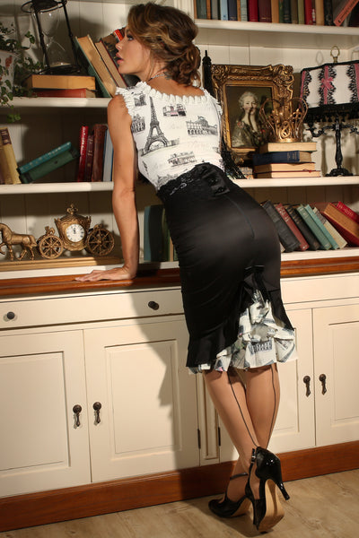 La Parisienne Bustle Skirt (Print)