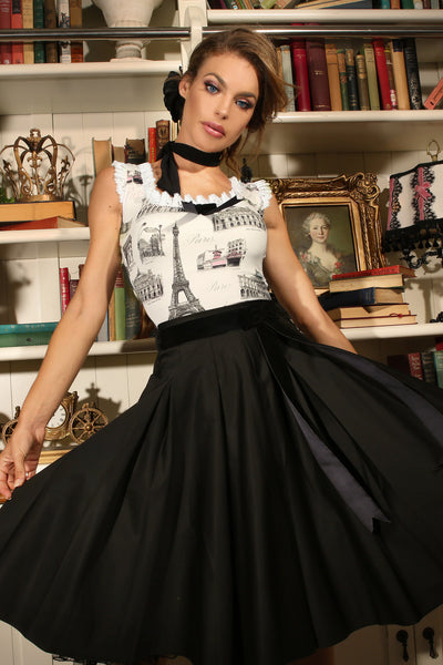 La Parisienne Full Skirt (Black)