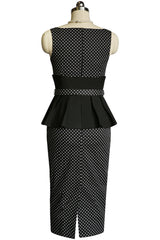 La Parisienne Peplum Wiggle Dress