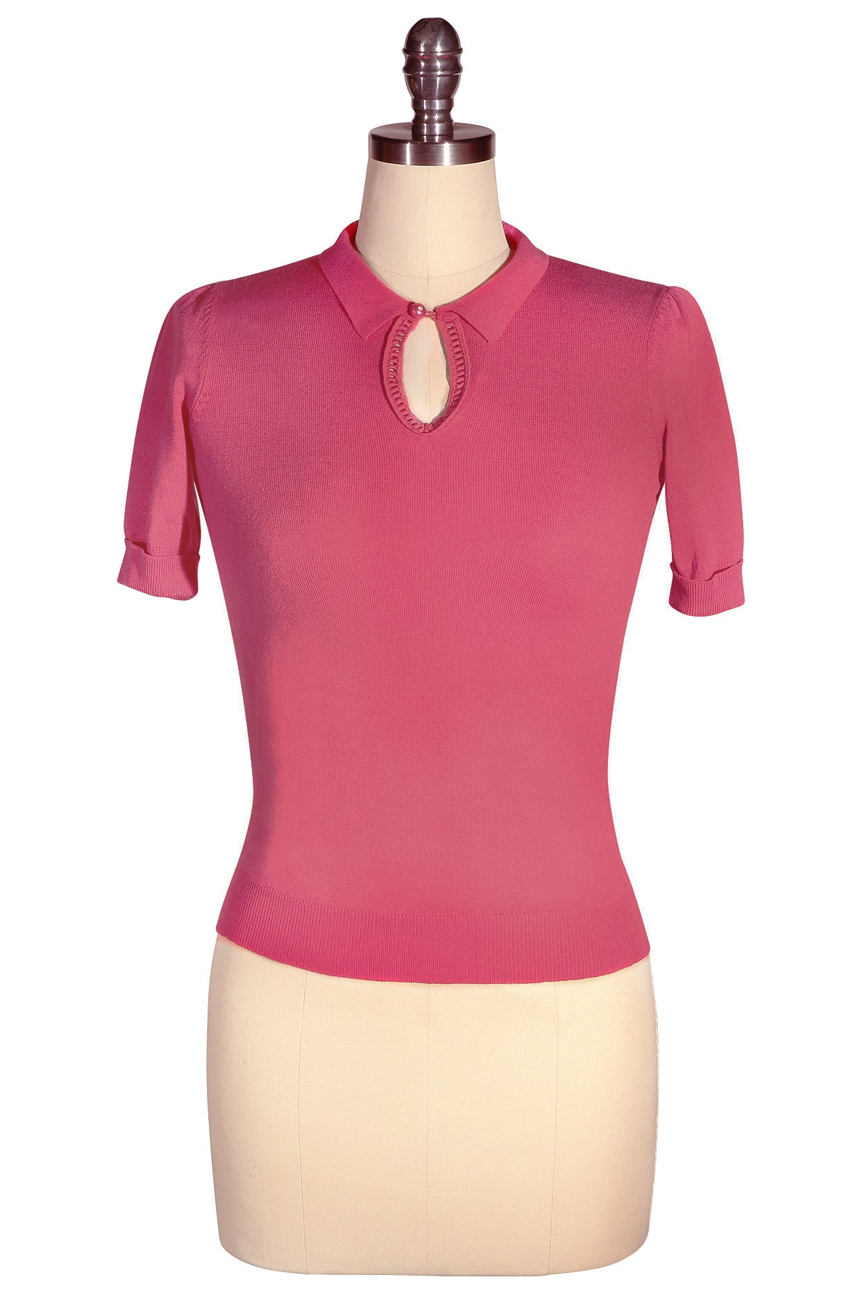 D'Amour Keyhole Knit Top (Hot Pink)