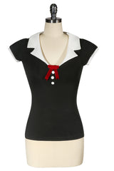 La Petite Boutique Collar T-shirt (Black)