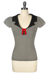 La Petite Boutique Collar T-shirt (Stripe)
