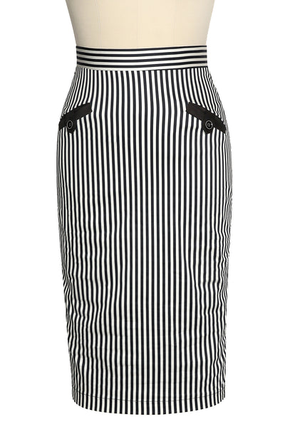 La Petite Boutique Stripe Bustle Wiggle Skirt