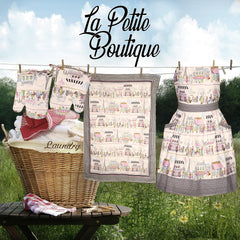 La Petite Boutique Apron and Oven Mitts