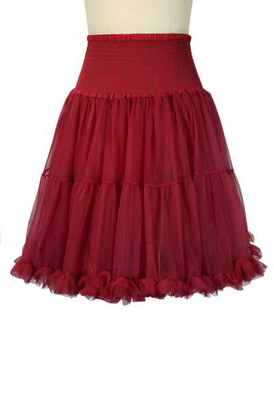 Luxury Shirred Petticoat Wine