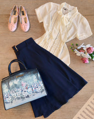 Music Box Crepe Skirt