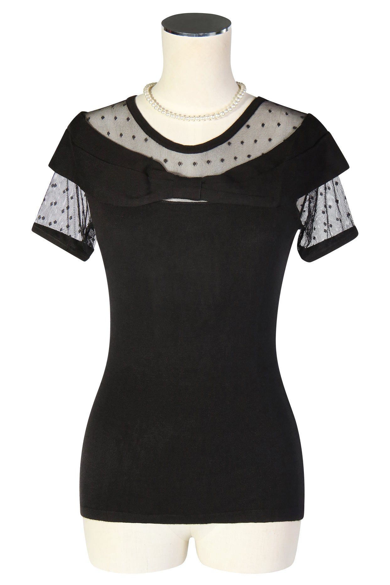 'Follies' Knit Off Shoulder Top (Black)