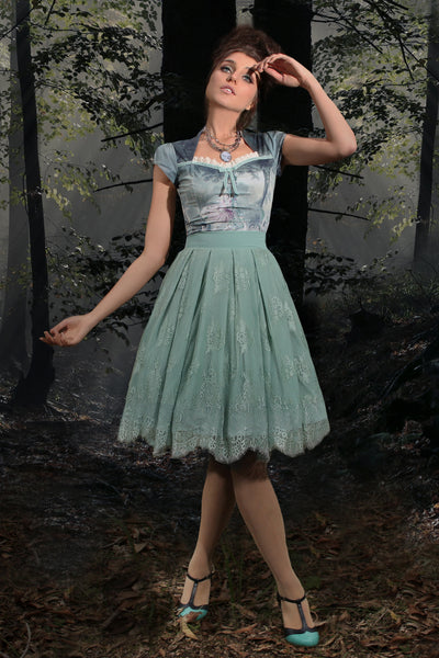 Music Box Lace Full Skirt (Mint)