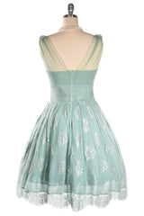 Music Box Lace Dress (Mint)