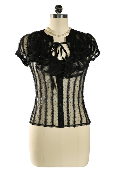 D'Amour Frill Shirt (Black)