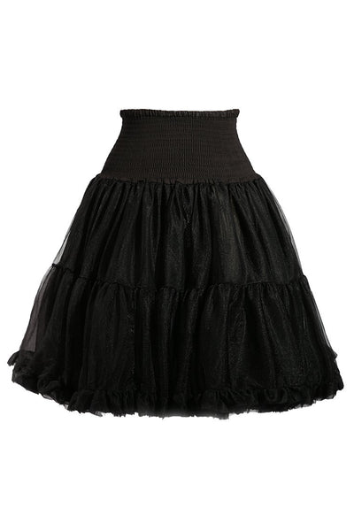 Luxury Shirred Petticoat (Black)