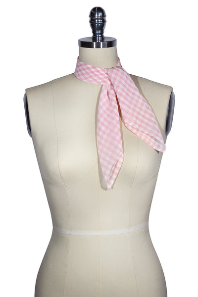 D'Amour Check Scarf (Pink)