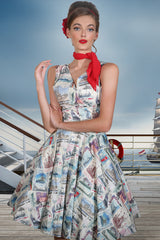 Postcards From Moscow Wrap Dress (Print)