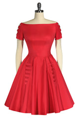 Christmas 1963 DeHavilland Dress (Red)