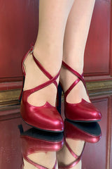 Vixen Shoe (Pearlescent Burgundy)