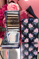 Vanity Compact Mirror (Ribbons and Roses)
