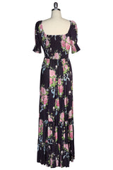 Ribbons And Roses Maxi Dress