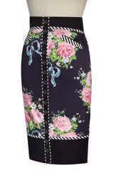 Ribbons And Roses Wiggle Skirt